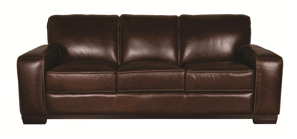 Morris Home Furnishings Erin Erin 100% Leather Sofa - Item Number: 103165436