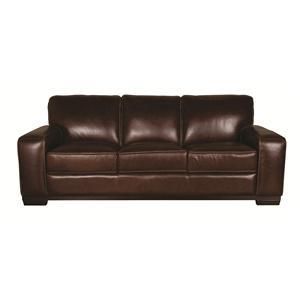 Morris Home Furnishings Erin Erin 100% Leather Sofa