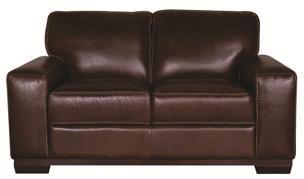 Morris Home Furnishings Erin Erin 100% Leather Loveseat - Item Number: 106165435