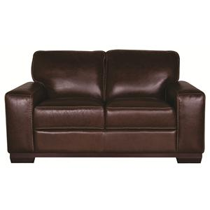 Morris Home Furnishings Erin Erin 100% Leather Loveseat