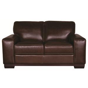 Morris Home Furnishings Erin Erin 100% Leather Loveseat