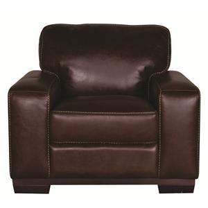 Morris Home Furnishings Erin Erin 100% Leather Chair