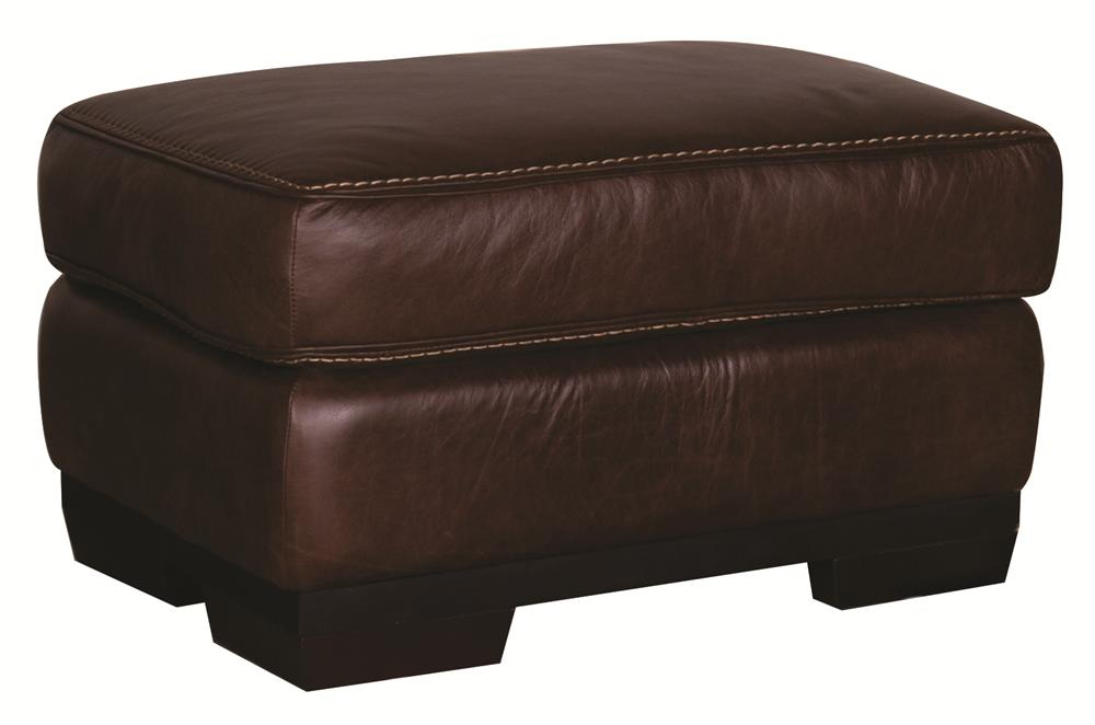 Morris Home Furnishings Erin Erin 100% Leather Ottoman - Item Number: 114165429