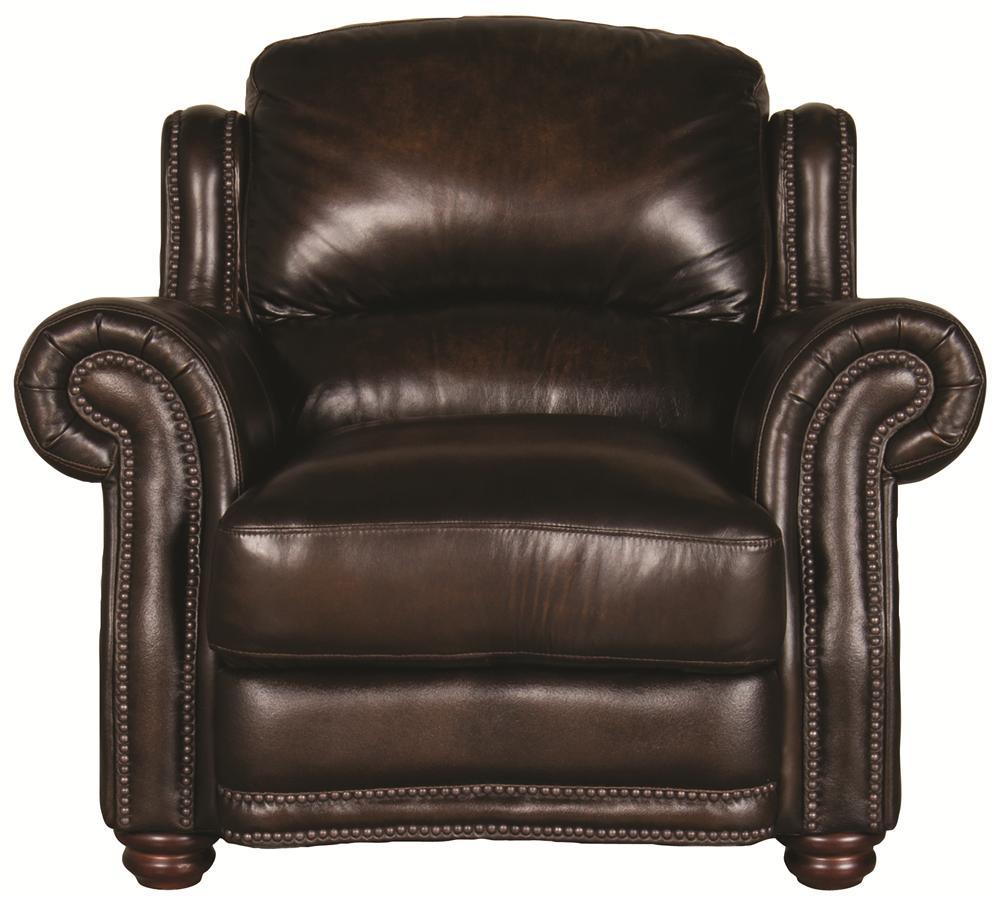 Morris Home Furnishings Harrison Harrison 100% Leather Chair - Item Number: 8442C