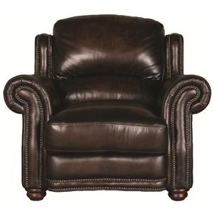 Morris Home Furnishings Harrison Harrison 100% Leather Chair