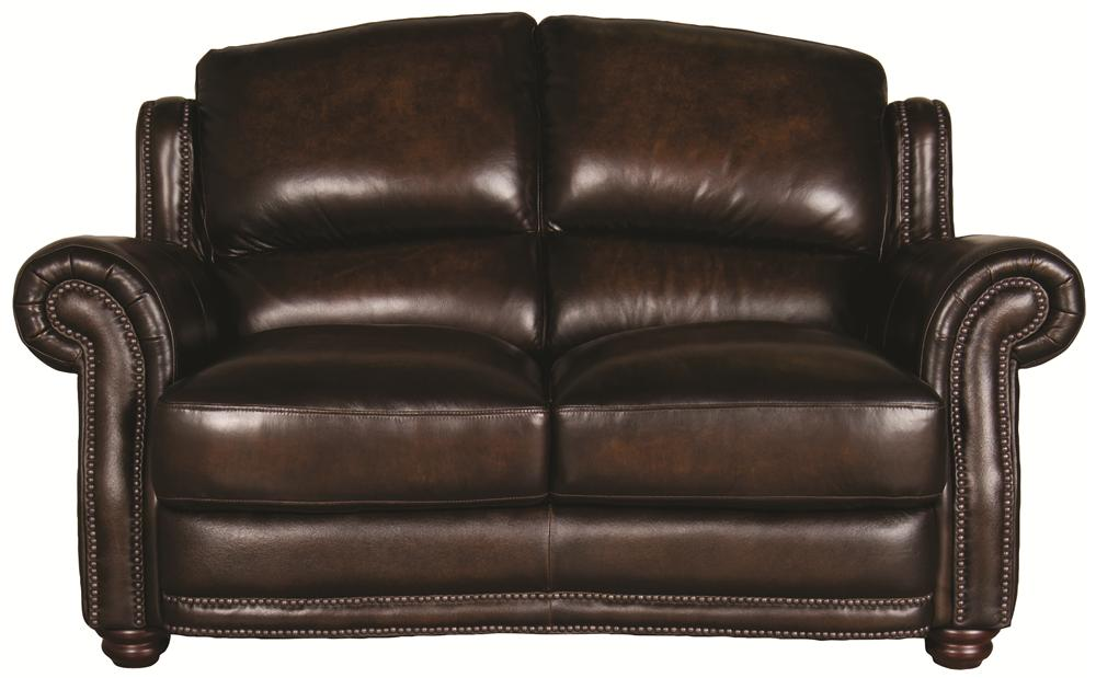 Morris Home Furnishings Harrison Harrison 100% Leather Loveseat	 - Item Number: 8442LS