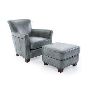Futura Leather 6307 Chair and Ottoman Set