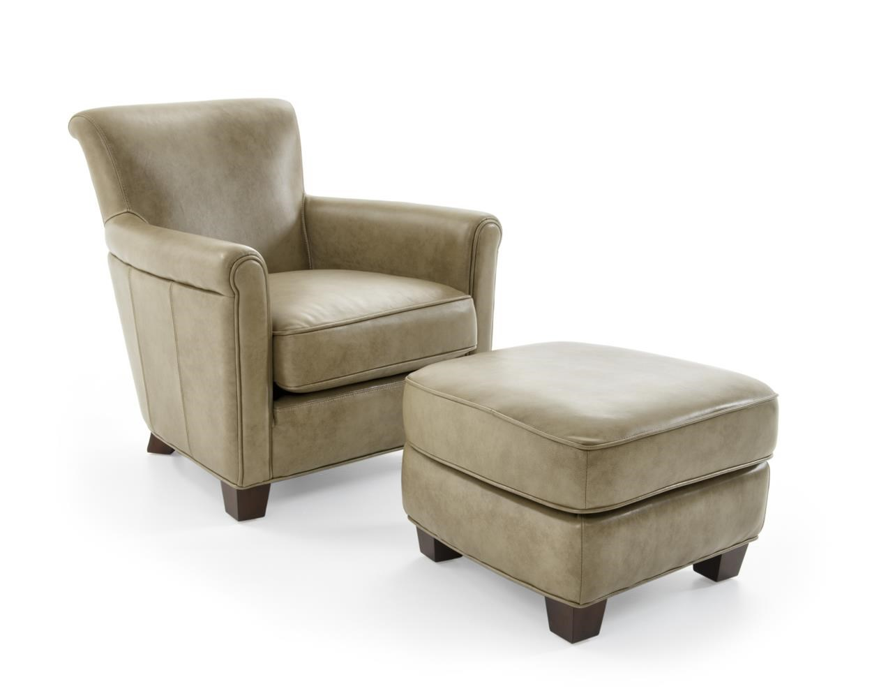Futura Leather 6307 Chair and Ottoman Set - Item Number: 6307-10+ 6307-63-1420F SANIBEL