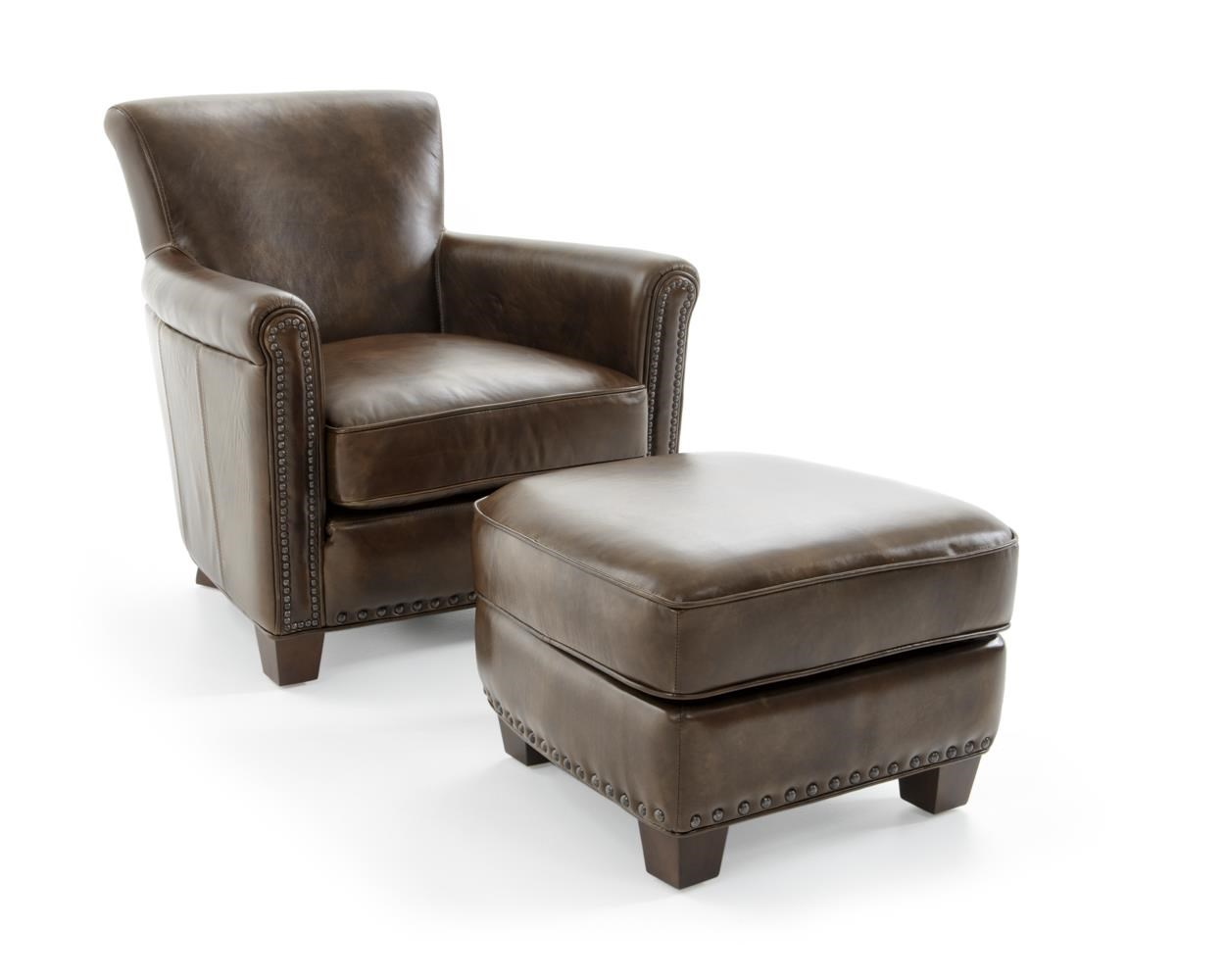 Futura Leather 6307 Chair and Ottoman Set - Item Number: 6307-10N +6307-63N 2079F EPIC