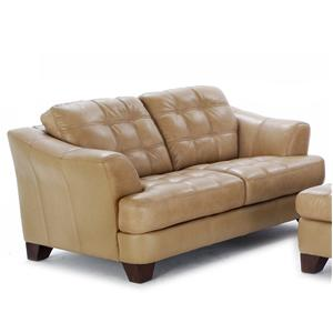 Terrific Futura Leather 6692 Timeless Styled Loveseat With A Creativecarmelina Interior Chair Design Creativecarmelinacom