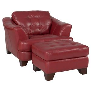 Futura Leather 6692 Chair and Ottoman Set