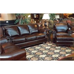 Futura Leather Rialto Coffee Leather Sofa, Chair & Ottoman
