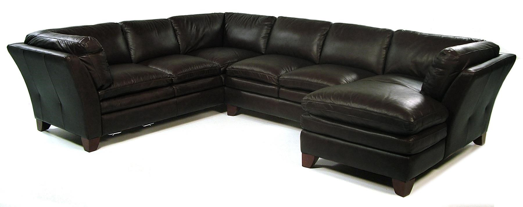 Loft Leather Pacific 3 Piece Sectional w/ RAF Chaise - Item Number: 7203-51+30+29