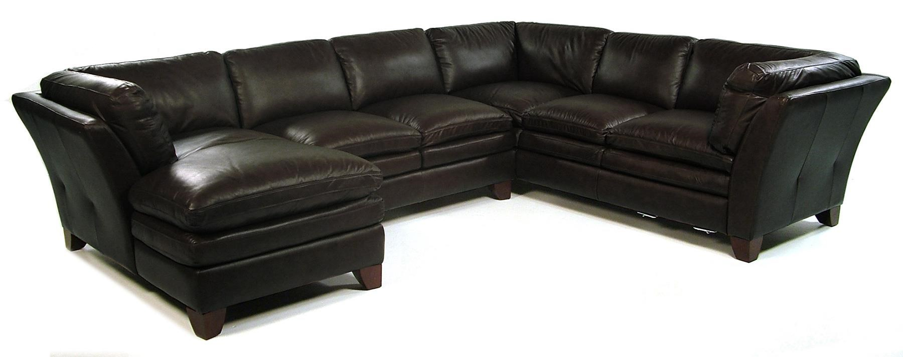 Loft Leather Pacific 3 Piece Sectional w/ LAF Chaise - Item Number: 7203-52+30+29