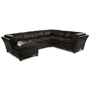 Loft Leather Pacific 3 Piece Sectional w/ LAF Chaise