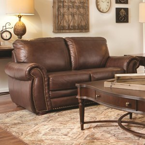 Dante Leather 7309 Traditional Loveseat