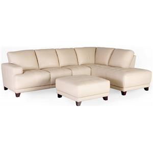 Dante Leather 7323 Sectional Sofa