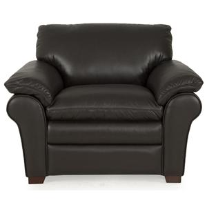 Futura Leather 7439 Upholstered Chair with Pillow Top Arms