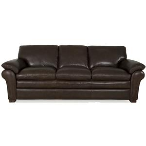 Futura Leather 7439 Sofa with Pillow Top Arms