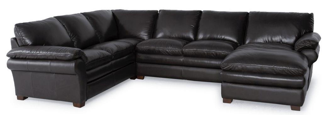 Futura Leather 7439 3 Pc Sectional Sofa - Item Number: 7439