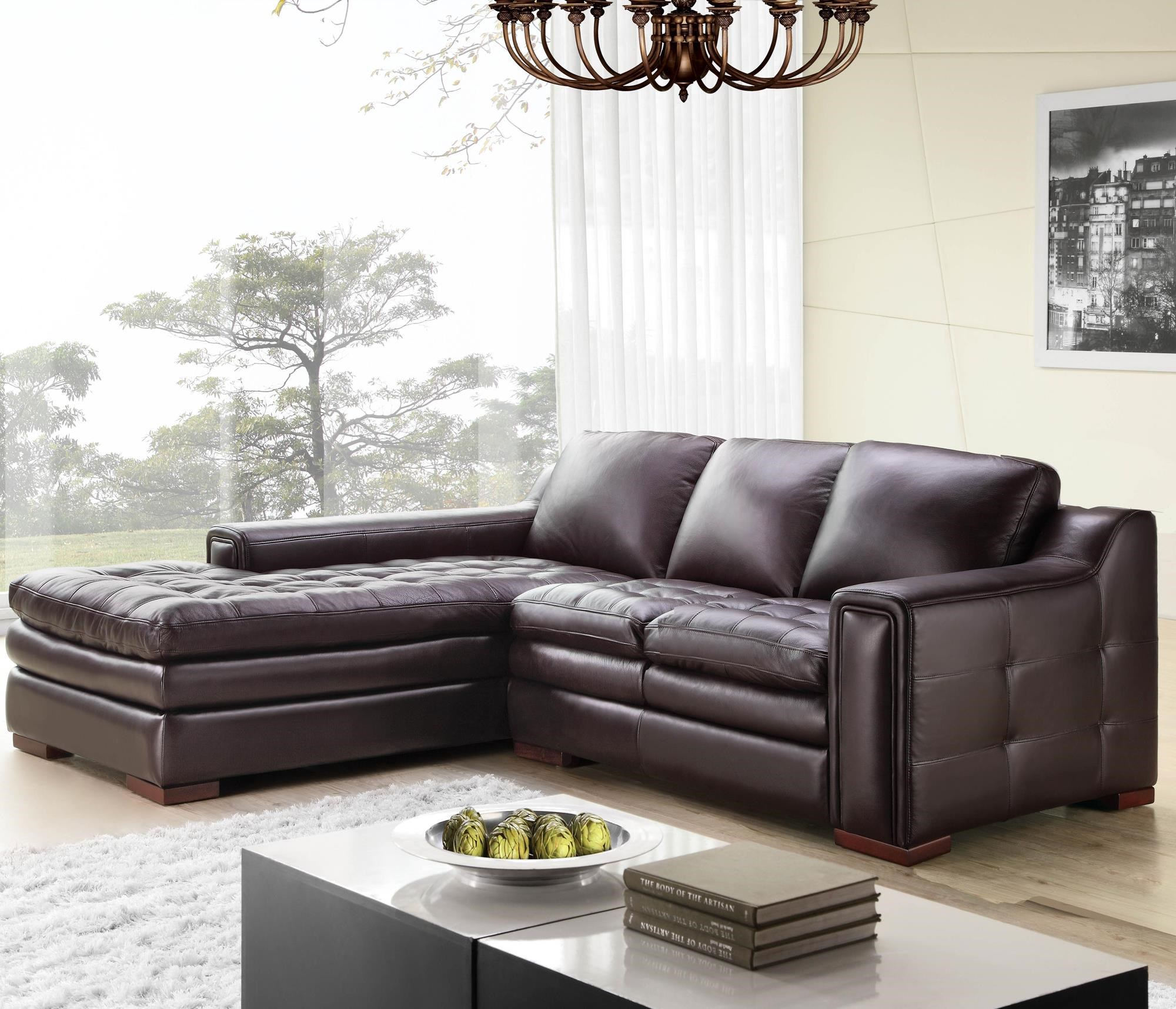Futura Leather 7491 2 Pce Brahma Sectional