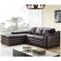 Futura Leather 7491 2 Pce Brahma Sectional - Item Number: Vogue