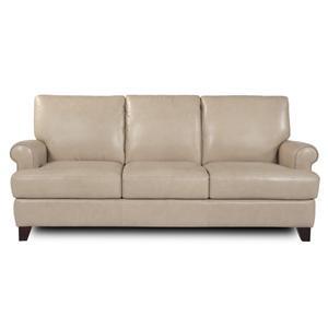 Futura Leather 7752 Contemporary Leather Stationary Sofa