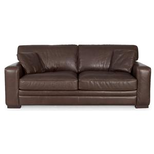 7918 Contemporary Leather Stationary Sofa by Futura Leather