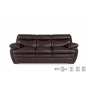 Futura Leather 8172 Acacia Coffee Leather Sofa