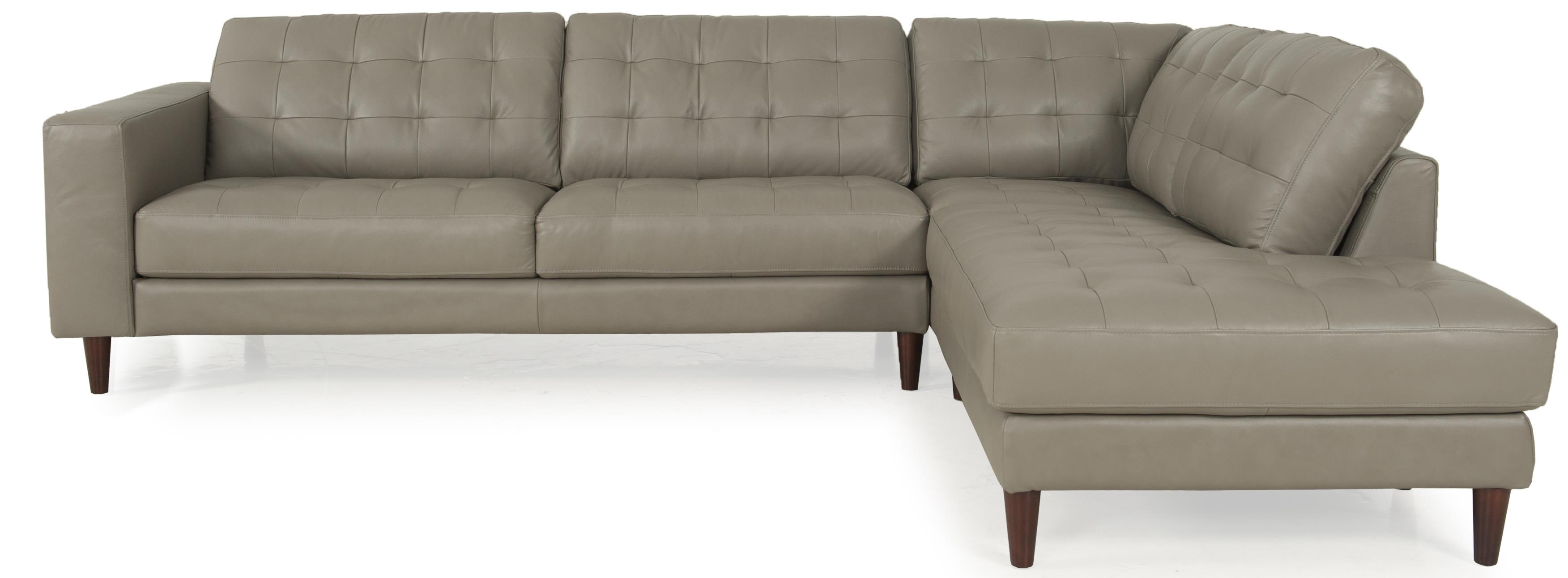 Futura Leather Myla Sectional HomeWorld Furniture Sofa Sectional