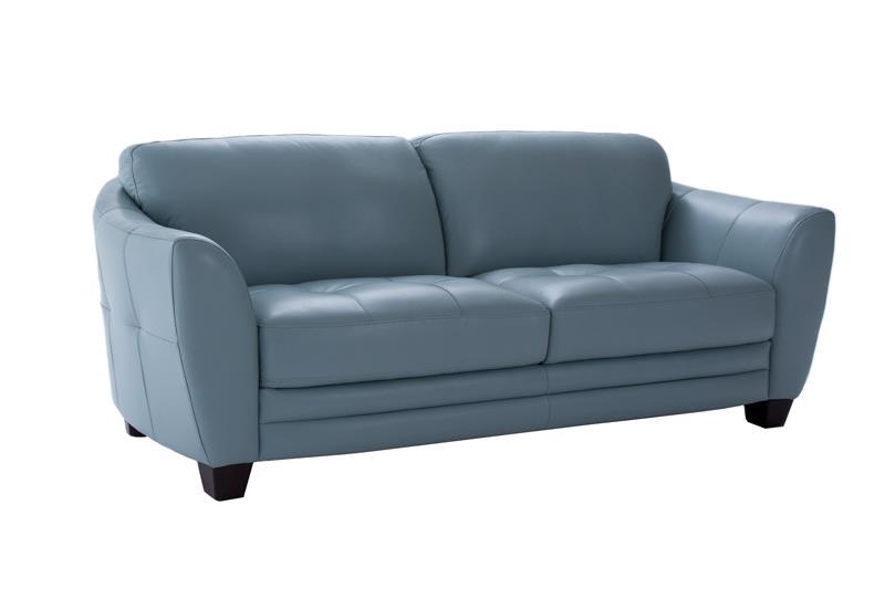 Futura Leather 8511 Stationary Sofa - Item Number: 8511 Aqua Sofa
