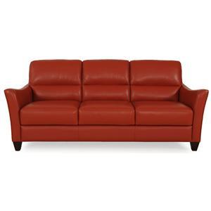 Dante Leather 8586 Stationary Sofa