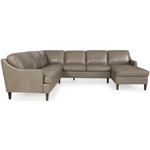 Dante Leather 8658 Sectional Sofa Group