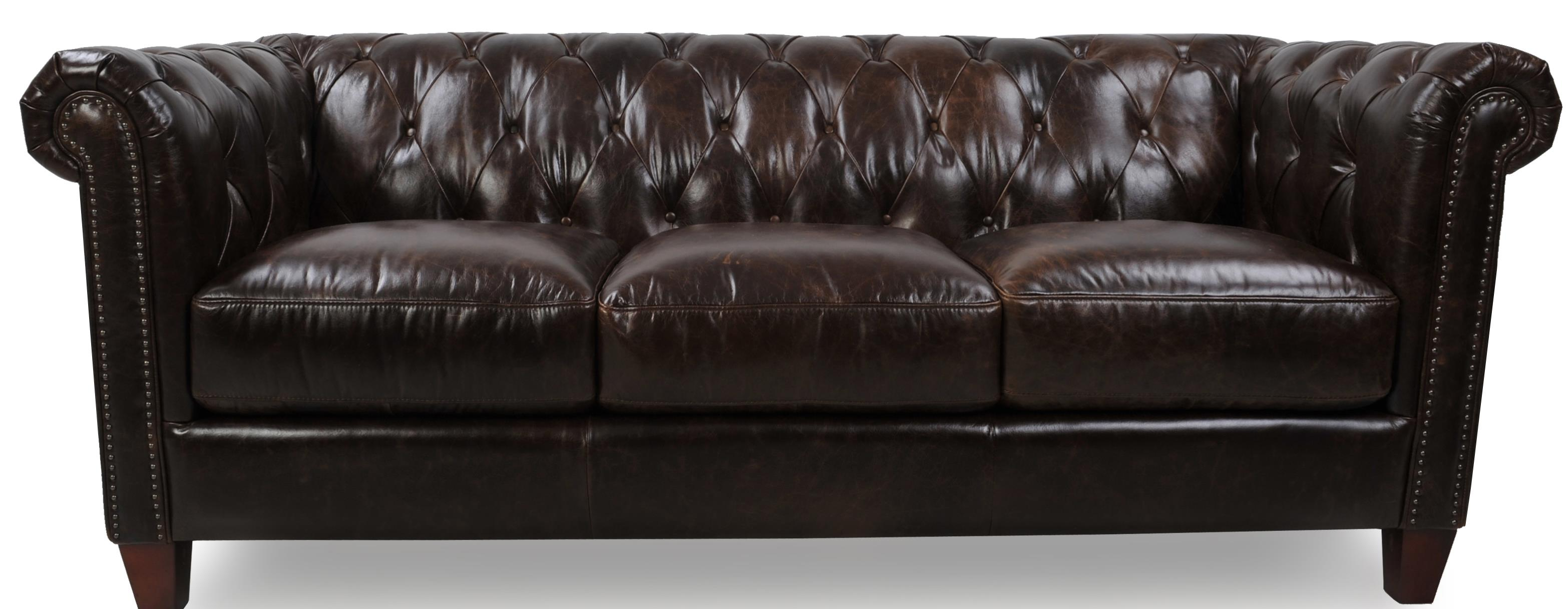 Futura Leather 8687 Traditional Sofa - Item Number: 8687-30-2049F