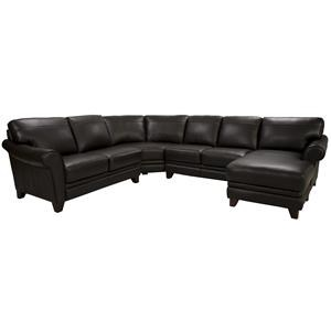 Futura Leather 8817 Leather Sectional