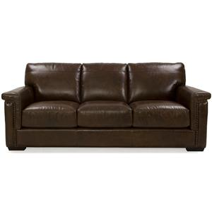 Dante Leather 8941 Stationary Sofa