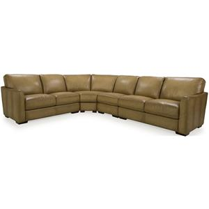 Dante Leather 8944 Transitional Sectional