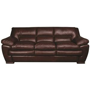 Morris Home Furnishings Austin Austin 100% Leather Sofa