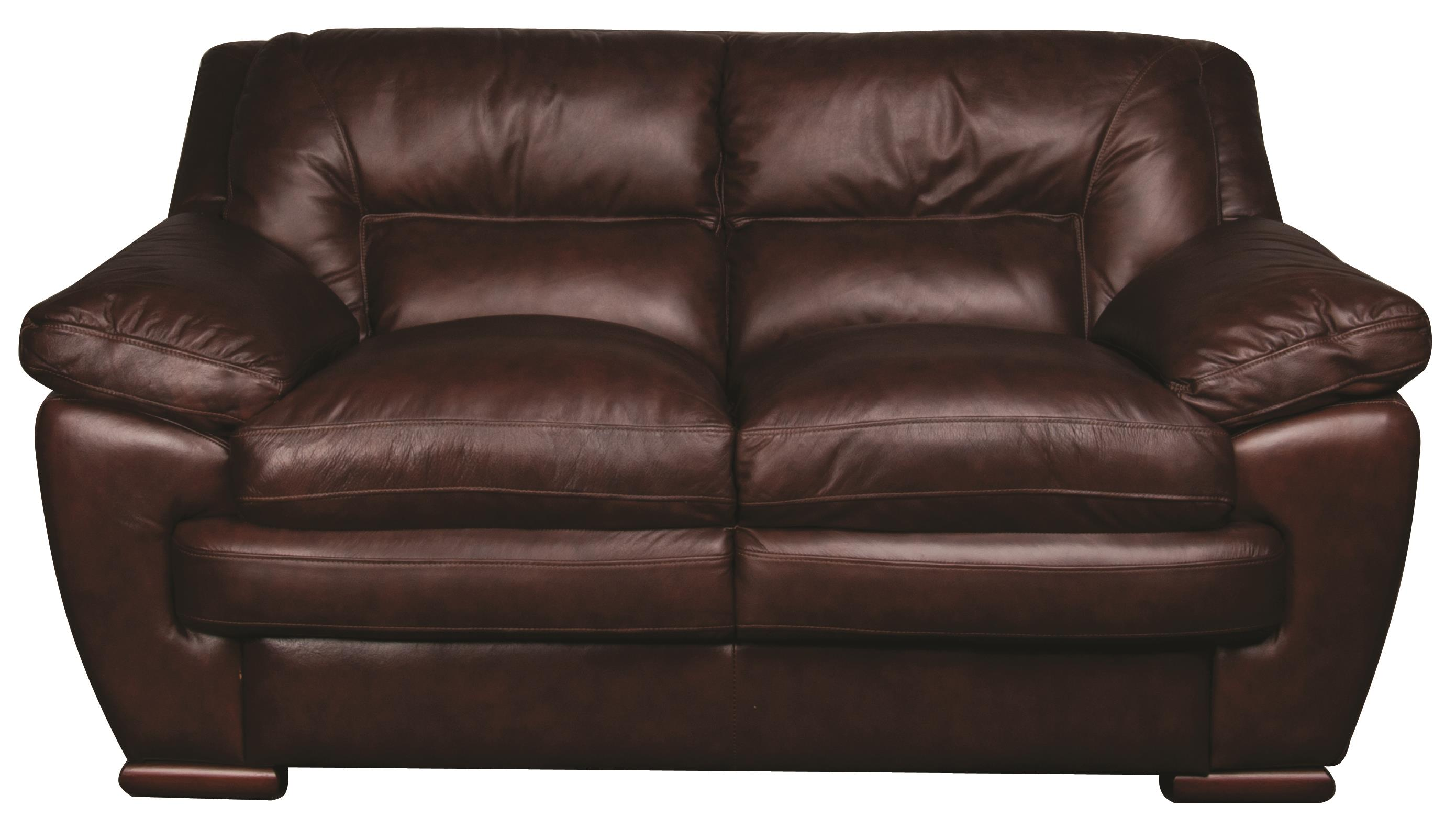 Morris Home Furnishings Austin Austin 100% Leather Loveseat - Item Number: 106826259