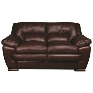 Morris Home Furnishings Austin Austin 100% Leather Loveseat