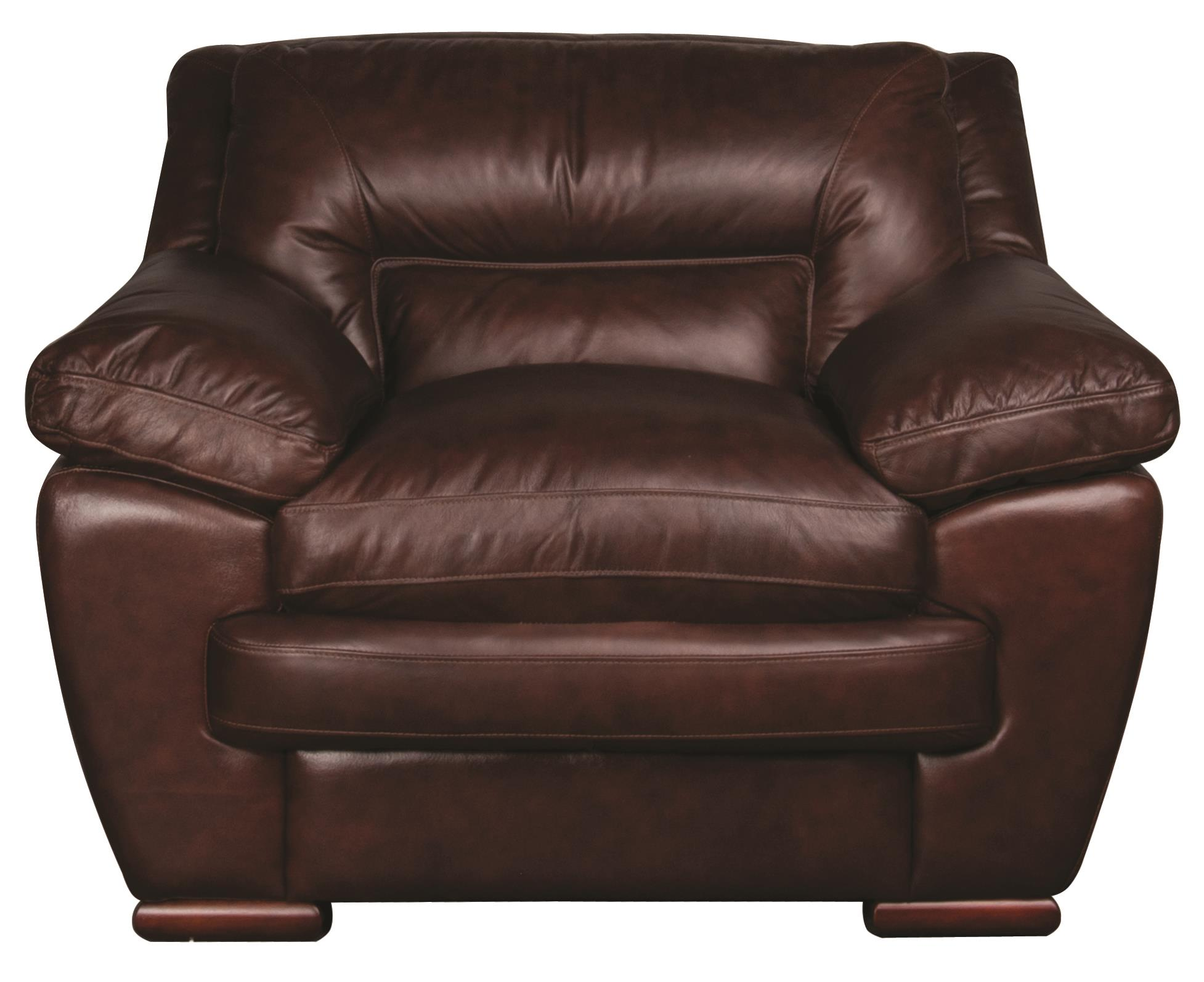 Morris Home Furnishings Austin Austin 100% Leather Chair - Item Number: 113826258