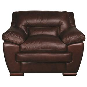 Morris Home Furnishings Austin Austin 100% Leather Chair