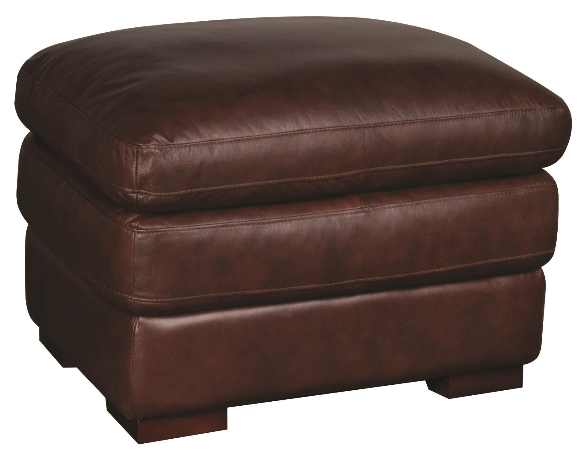 Morris Home Furnishings Austin Austin 100% Leather Ottoman - Item Number: 114826259
