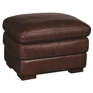 Morris Home Furnishings Austin Austin 100% Leather Ottoman
