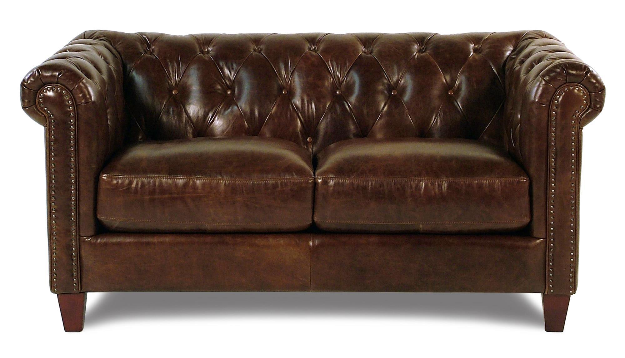 Loft Leather Carrington Tufted Leather Loveseat - Item Number: 8687-20