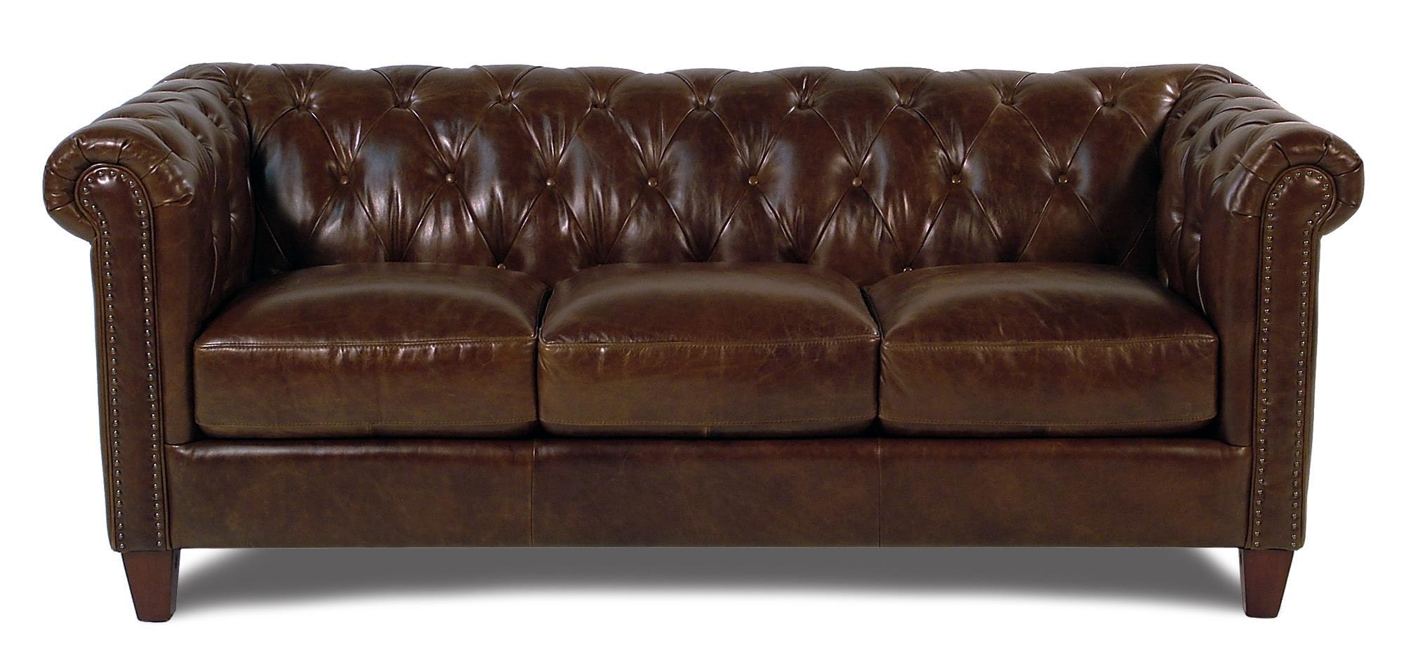 Loft Leather Carrington Tufted Leather Sofa - Item Number: 8687-30