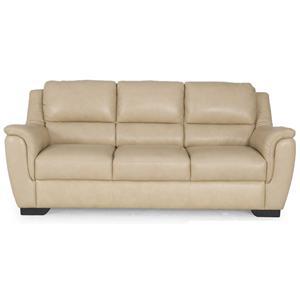 Futura Leather Chilly 1167 Contemporary Cream Leather Sofa