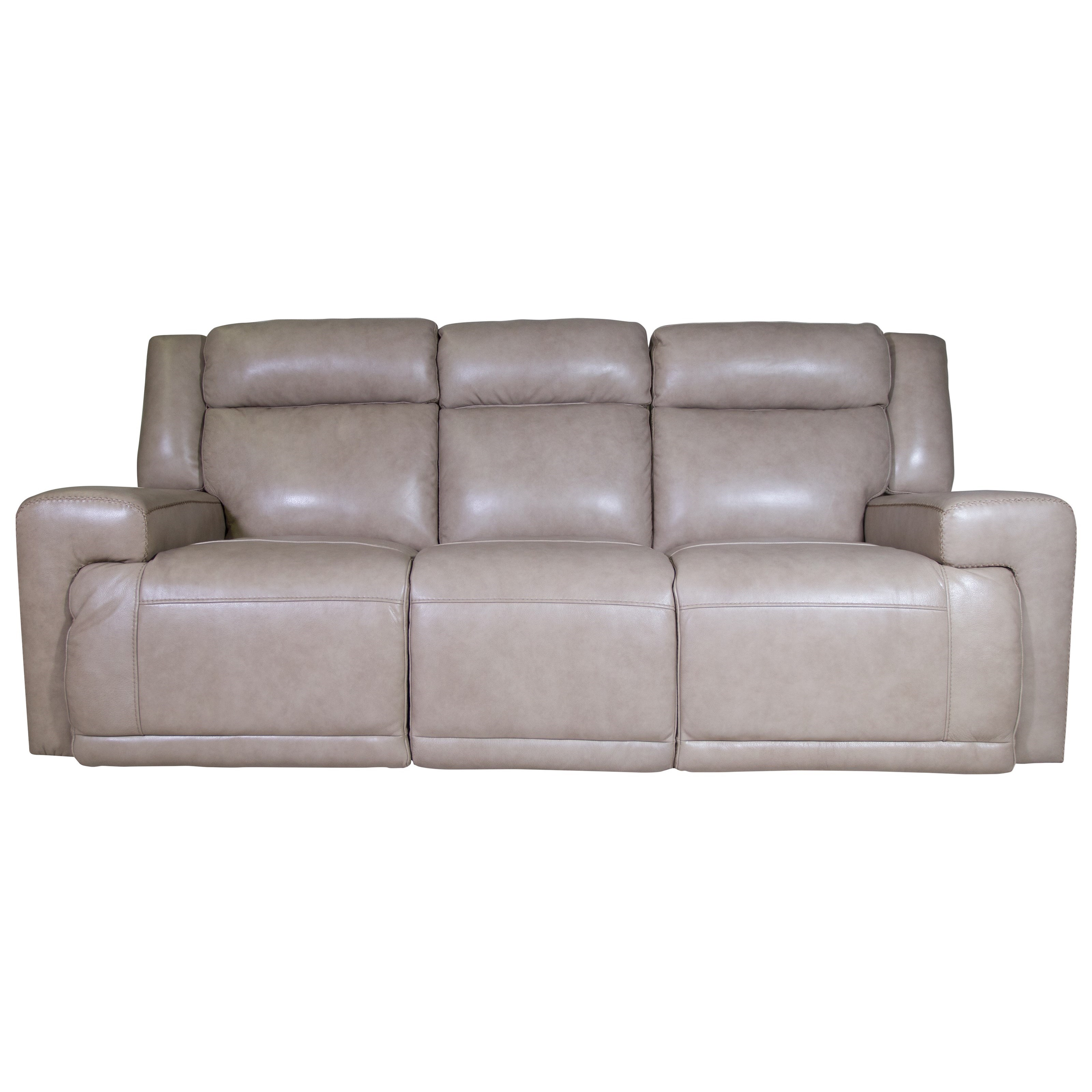 Futura Leather Burke Power Reclining Sofa HomeWorld Furniture