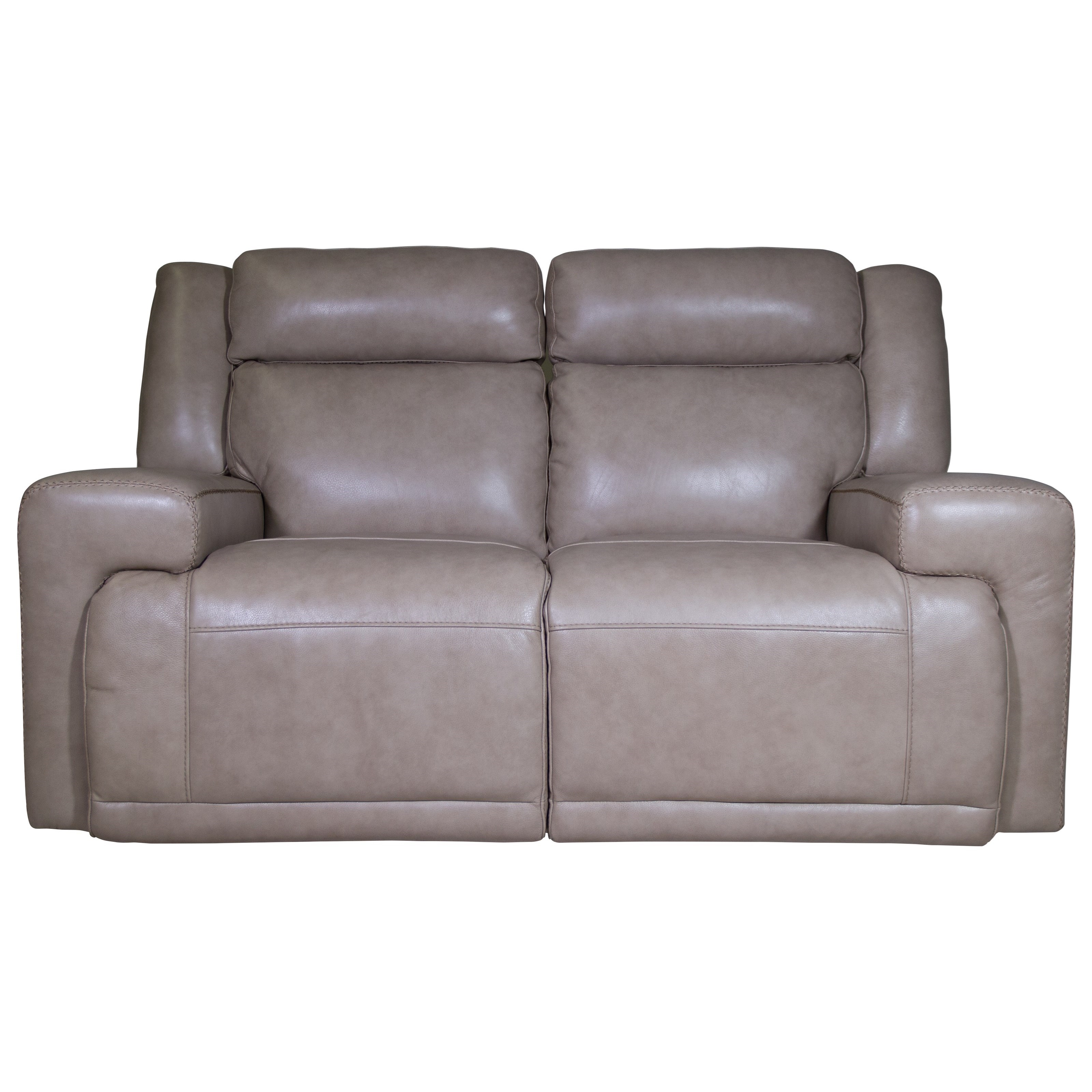 Futura Leather Burke Power Reclining Loveseat HomeWorld