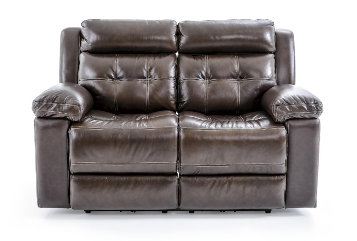 Futura Leather E1267 Electric Motion Loveseat - Item Number: E1267-318 1148H ARCH DAVEN